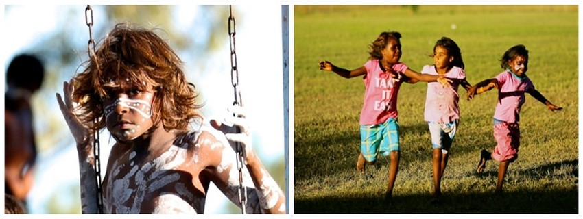 Des jeunes Aborigènes pris en deux cultures ©Sébastien Cros