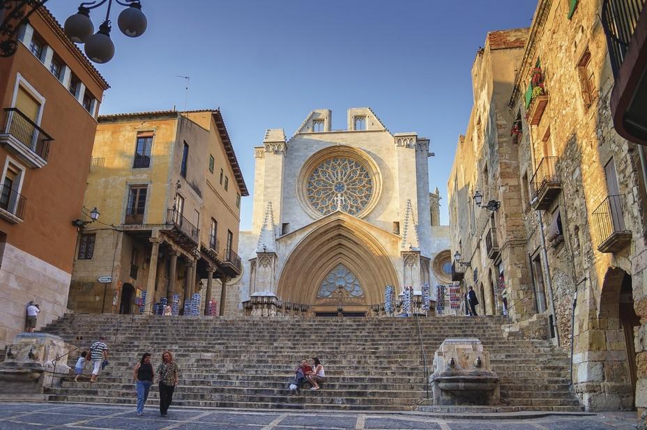 a grande cathédrale gothique de Tarragone dans la vieille ville @ Nuria Puentes - ACT