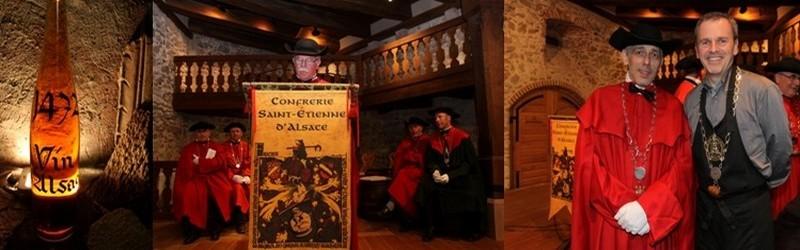 Le règlement de la confrérie Saint-Etienne établi en 1561 stipule que « tout comportement inconvenant ou indécent sera puni de l'amende de trois bouteilles ». (Crédit photo David Raynal)