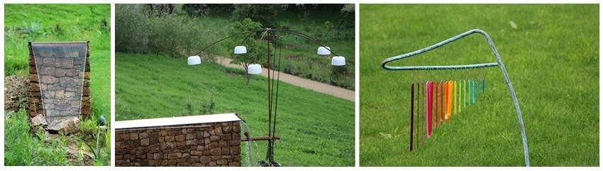 Neuf propositions de recherche et développement ont été déposées pour aboutir à ces objets insolites et ces créations disséminés un peu partout dans le jardin de La Borie. (Crédit photo David Raynal).