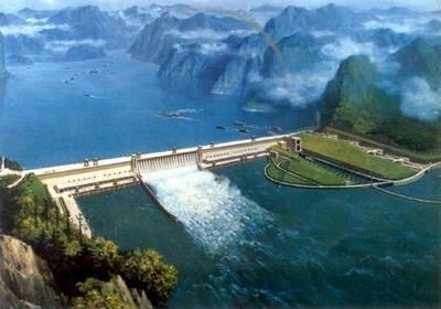 Barrage des trois gorges sur le fleuve Yangtzé (Crédit photo DR)
