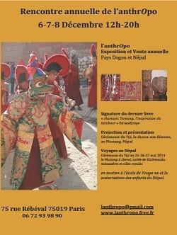 Affiche de l'exposition-vente à l'Anthropo