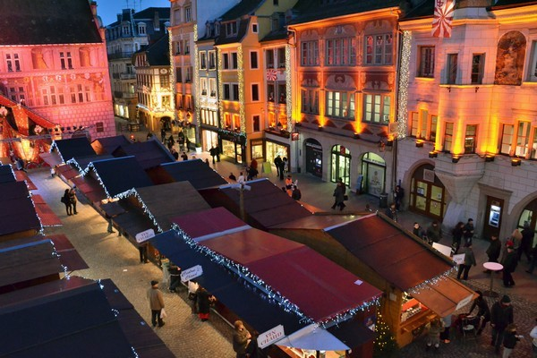 Vue d'ensemble du Marché de Noël de Mulhouse (Crédit Photo David Raynal)