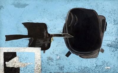 Georges Braque, À tire d'aile, 1956-1961, huile et sable sur toile marouflée sur panneau ; 114 x 170,5 cm, Paris, Centre Pompidou, Musée national d'art moderne, donation de Mme Georges Braque, 1965, © Centre Pompidou, MNAM-CCI, Dist.Rmn-Grand Palais / Adam Rzepka, © Adagp, Paris 2013