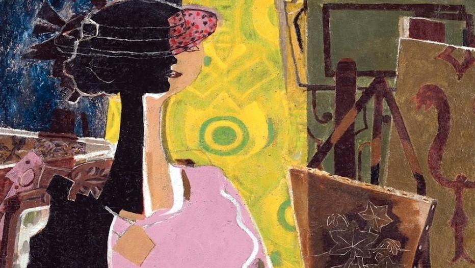 Georges Braque, Femme à la palette, 1936, huile sur toile ; 92,1 x 92,2 cm, Lyon, musée des Beaux-Arts, legs de Jacqueline Delubac, 1997, © Rmn-Grand Palais / René-Gabriel Ojéda / Thierry Le Mage, © Adagp, Paris 2013