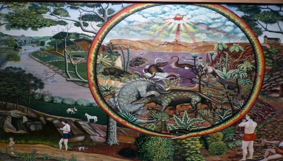 Henri Trouillard est hanté par l'histoire des origines, les plantes exotiques et les animaux préhistoriques (Crédit Photo Catherine Gary)