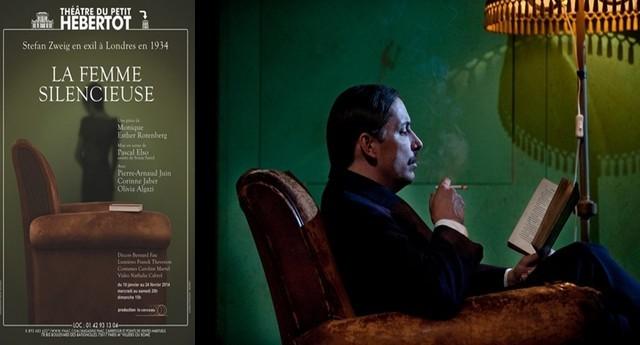 A droite  Pierre-Arnaud Juin, dans le rôle de Stefan Zweig (Crédit photo Xavier Lahache)