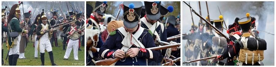 Tout au de l'année, de Châlons-en-Champagne à Fontainebleau, en passant par Reims, Château-Thiery, Montmirail et Nogent-sur-Seine, la fureur des champs de bataille retentira à nouveau. (Photos David Raynal et Yann Menguy).