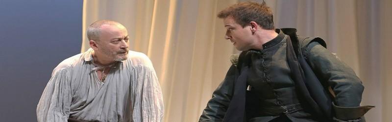 """Emmanuel Dechartre, Adrien Melin dans la pièce """" Parce que c'était lui...."""" actuellement au Théâtre du Petit Montparnasse  (Crédit Photo DR)"""