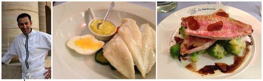 De gauche à droite : Denis Rippa, chef des cuisines depuis 2001; L'arrivage est quotidien pour les poissons, ici les grands privilégiés.(Photos DR)