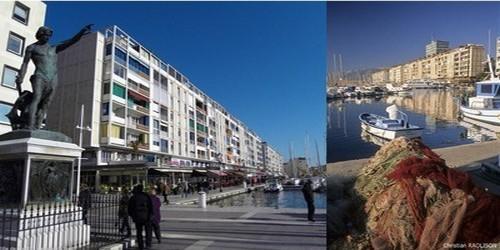 la Frontale du port aujourd'hui.On le doit à Jean de Mailly (1911-1975), à l'époque architecte conseil de l'État pour la région Méditerranée ( © O.T. Toulon)