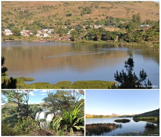 Photo 1 : Sur les bords du Lac Itasy; 2/ Les Chutes de la Lily ; 3/ Le Lac Itasy dès l'aube (Crédit photos Yann Menguy)
