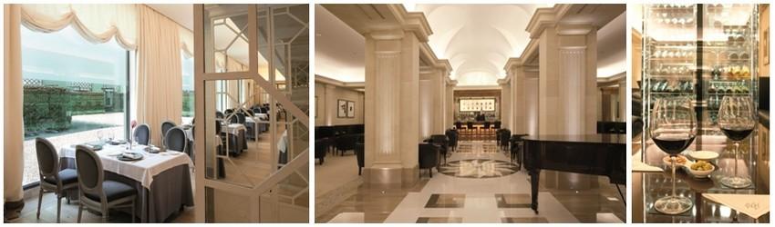 De gauche à droite : Le Salon Droma;  El Bar del Majestic est sans aucun doute, le cœur de l'hôtel. (Crédit Photos D.R.)