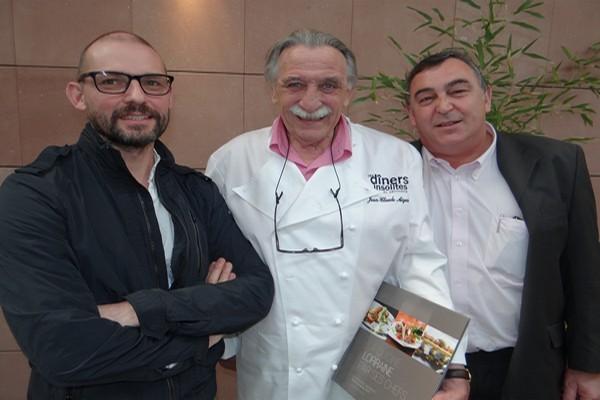 De gauche à droite, trois sommités de la gastronomie Hervé Cune, Jean-Claude Aiguier et Philippe Lacroix. (Crédit Photo Bertrand Munier)