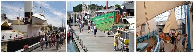 Dans le cadre exceptionnel de la ria du Port-Rhu, à quelques encablures de l'île Tristan, c'est aussi un musée à flot, unique en France (Crédit Photos francis Holveck)