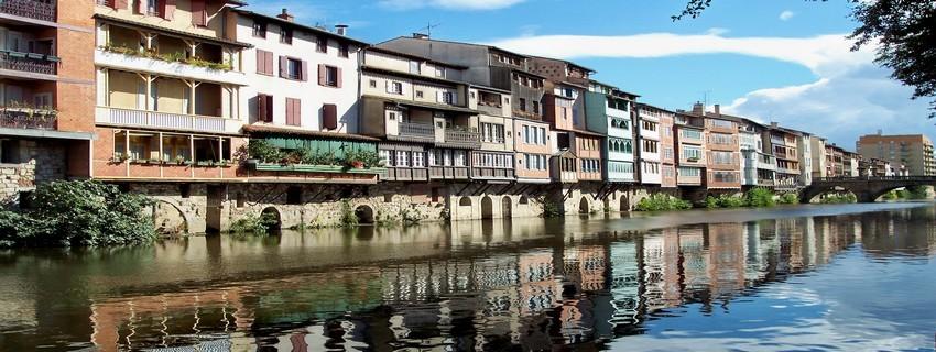 Castres : Maisons sur l'Agout (Crédit photo CDT du Tarn)