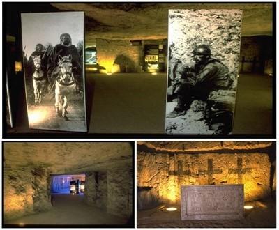 La Caverne du Dragon, une ancienne carrière de pierres devenue allemande en janvier 1915, est aujourd'hui un lieu de mémoire visité par de nombreux touristes. (© JP.Gilson)