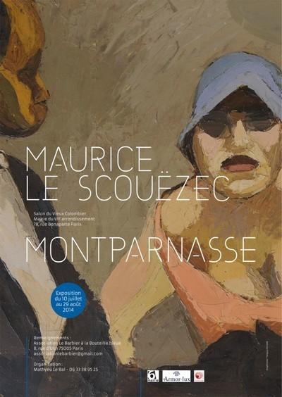 Affiche de l'exposition de ce grand peintre breton, à voir sans hésitation à la Mairie du 6ème à Paris (Crédit Photo DR)