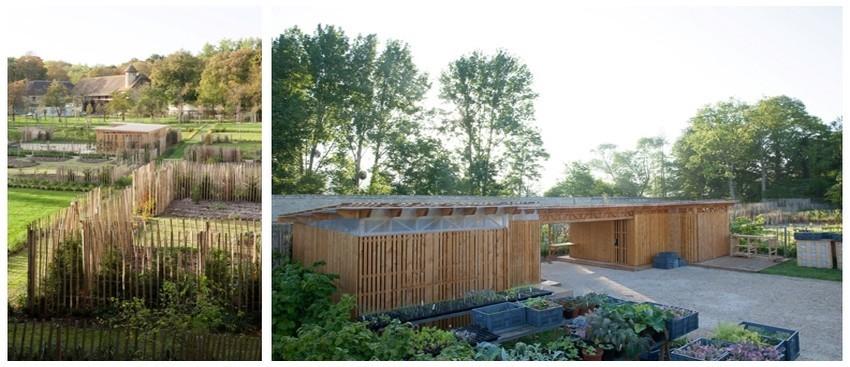 Le nouveau potager-jardin de l'Abbaye de Royaumont conçu par les paysagistes Astrid Viesperen et Philippe Simonnet, il concilie l'organisation d'un potager traditionnel et les recherches expérimentales sur la biodiversité. (Crédit photo Yan Monel)