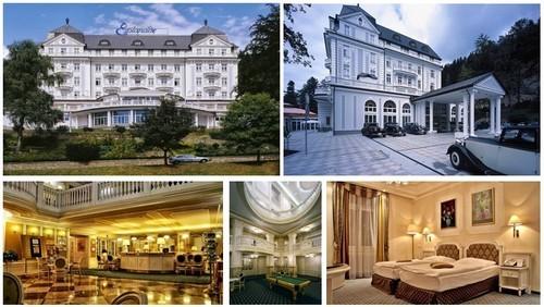 Hôtel de l'Esplanade, le hall de réception, la salle de billard, une des somptueuses chambres (crédit photo DR)