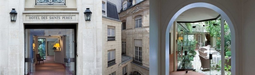 L'Hôtel des Saint-Pères, un Hôtel particulierconstruit en 1658 par Daniel Gittard, architecte du Roi Soleil, s'organise autour d'un patio central arboré. (Crédit photos DR)