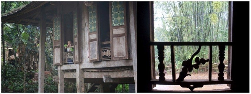 Il faut arriver avant la nuit chez nos hôtes, monsieur et madame Vác Quán. Ils habitent une maison sur pilotis dans une forêt de bambous (Crédit photos Yves Rinauro)
