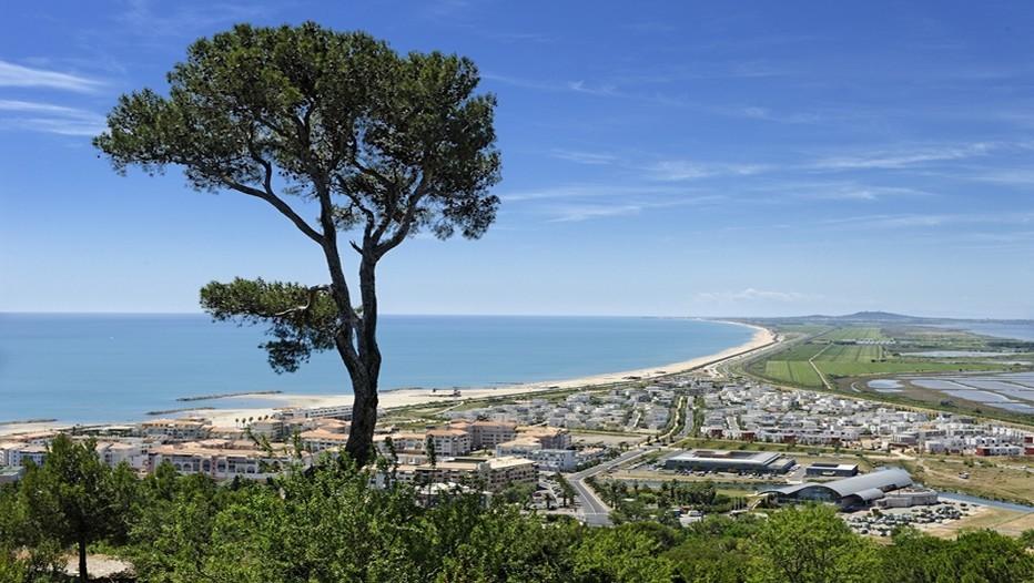 Vue depuis le mont Saint-Clair sur la mer et l'Etang de Thau. ( Photo OT de Sète)