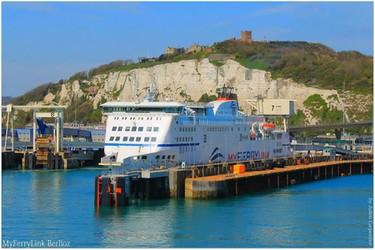 Le navire Rodin de MyFerryLink amarré dans le port de Douvres (Crédit photo DR)