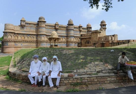 Forteresse de Gwalior/Palais Man Mandir (Crédit photo Fabrice Dimier)