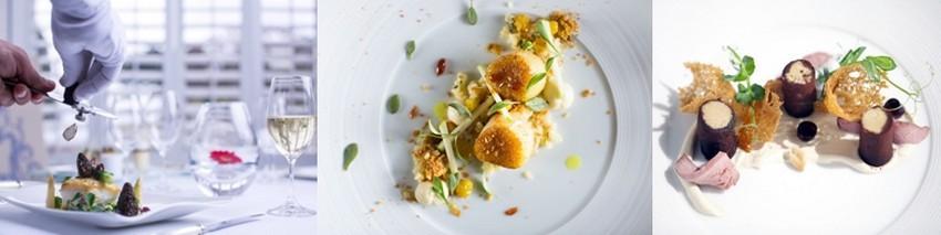 dîners gastronomiques dans les restaurants étoilés de Jersey: Ocean  à l'hôtel Atlantic, Bohemia au Club Hotel & Spa, Tassili au Grand Jersey. (Crédit photos David Raynal)