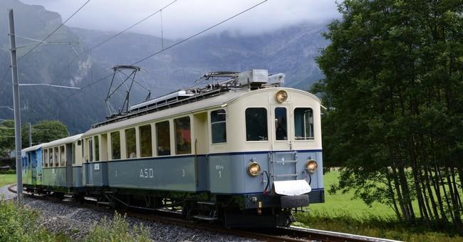 Le train Aigle Sepey Diableret (©Marino.Frei )