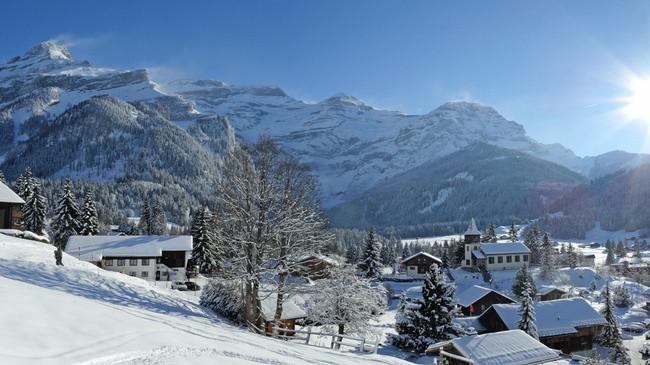 Le petit village des Diablerets a su conserver toute son authenticité (Crédit photo Christophe Racat)