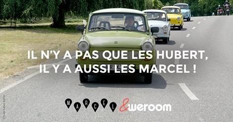 Affiche pub de Marcel (Crédit photo DR)