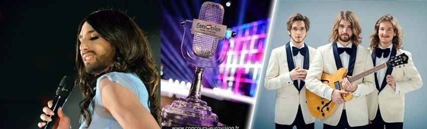 Gagnante de l'Eurovision 2014 (qui s'est déroulée à Copenhague (Danemark)) la chanteuse Conchita Wurst laisse sa place au groupe The Makemakes qui représentera également l'Autriche pour cette année 2015 ( ©  1 - David Raynal - 2 et 3 - ( ©   Eurovision Autriche)
