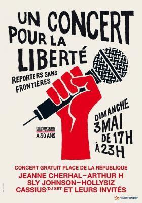 Un  « concert pour la liberté », dimanche 3 Mai, Place de la République à Paris