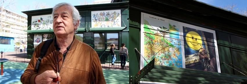 Cette année, la sélection des 14 œuvres retenues par la présidente Françoise Vespérini et la directrice Véronique Valentini-Calendini de l'office du tourisme, présente le travail de caricaturistes venus de France, de Chine, d'Israël mais aussi de Corse avec les artistes Batti (Manfruelli) et Solange Rossi. (Crédit photos David Raynal)