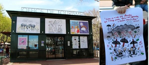 En parallèle de cette exposition en faveur de la liberté d'expression, l'office de tourisme de Bastia a décidé en ce début de saison touristique de mettre l'accent sur la thématique de la création. (Crédit photos David Raynal)