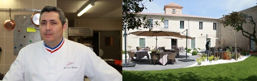 Le chef Jérôme Nutile oeuvre dans sa cuisine du Mas de Boudan, un restaurant gastronomique à deux pas du coeur de la belle ville de Nîmes (Gard) ©PCros
