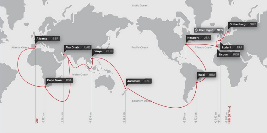La Volvo Ocean Race est la plus longue et la plus difficile des épreuves à la voile en équipage autour du monde. ( ©  DR)