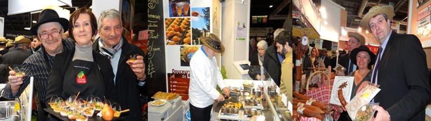 Jérôme Mathieu (photo de droite), président de la Chambre d'agriculture des Vosges, promeut avec ses collaborateurs les produits de son département au Salon de l'Agriculture à Paris. (Photos Bertrand Munier)