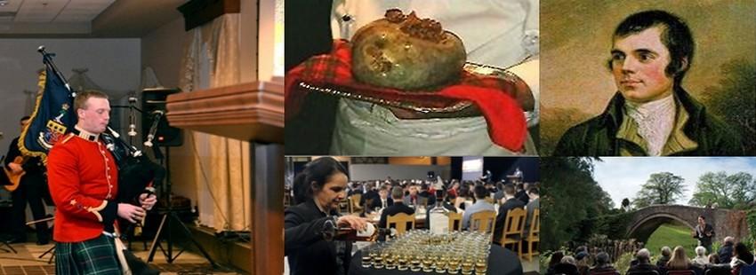 Depuis plus de 200 ans, les Ecossais se réunissent tous les 25 janvier en Ecosse et à travers le monde pour célébrer le « Souper de Burns ». Lors de cette fête qui suit un format traditionnel consacré, composé de discours, d'une cérémonie et de récitals, les convives déclament des poèmes de Robert Burns et dégustent le haggis, la fameuse panse de brebis farcie. (Crédits photos DR/www.visitscotland.com/Ecosse)