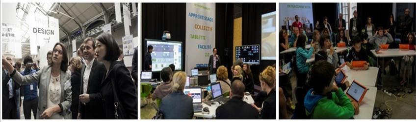 En 2014, plus de 78 000 visiteurs avaient imposé le festival comme le plus grand rendez-vous dédié au numérique (en présence de Fleur Pélerin Ministre de la Culture)  en Europe, célébrant la rencontre entre les innovateurs et le grand public. (Crédit photos DR)