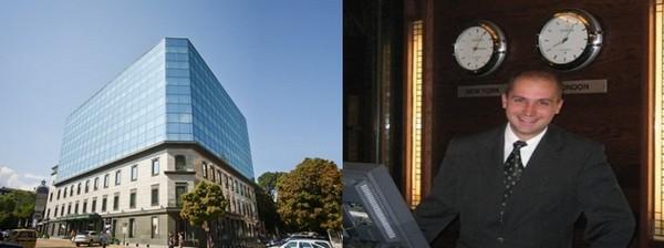 De gauche à droite : En plein centre de la capitale bulgare, le Grand Hôtel Sofia entièrement entouré de jardins, domine la ville; Nikolay Rusev, le Manager du Grand Hotel Sofia (GHS)  (Crédit photos DR)
