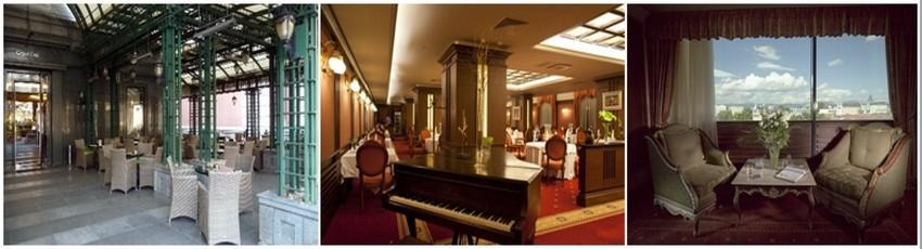 le Grand Hôtel Sofia est remarquablement équipé : un restaurant Gourmet tout de rouge vêtu, met en avant les produits bulgares dès le petit-déjeuner et un bar dans le lobby, où les cocktails, et les long drinks font le bonheur des « after » (Crédit photos DR)