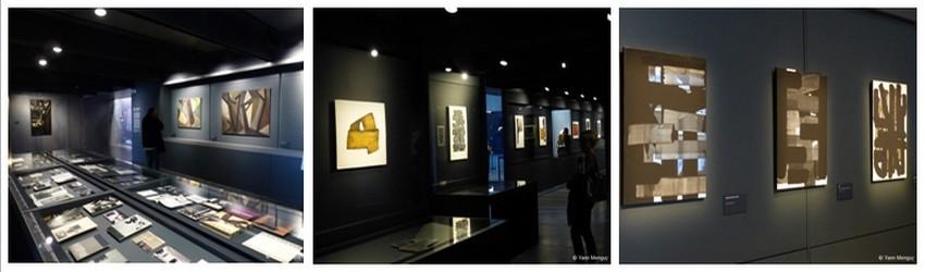 Musée Soulages : un fond exceptionnel de près de 500 oeuvres et documents. Une collection unique, qui témoigne des multiples recherches de Pierre Soulages. (Crédit photos Yann Menguy)