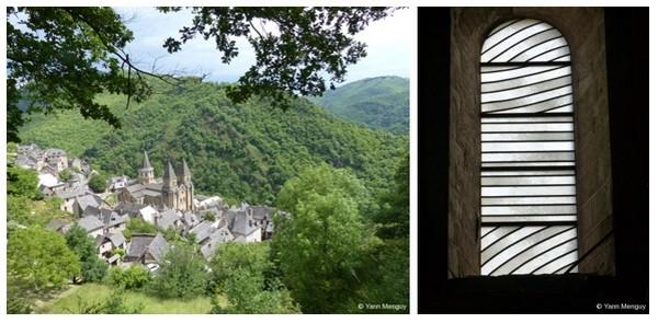 Sur le chemin de Compostelle,l'abbatiale de Conques près de Rodez est l'un des premiers sites touristiques de l'Aveyron.L'abbatiale de Conques dans l'œuvre de Pierre Soulages; (Crédit photos Yann Menguy)