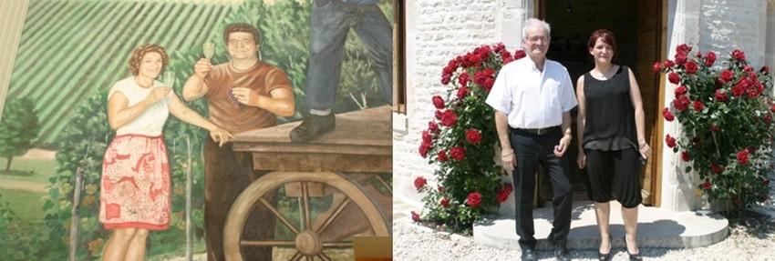 De gauche à droite : 1/ Photo archives  © Champagne Gremillet; 2/Les actuels propriétaires du Domaine Gremillet qui compte des ancêtres vignerons, depuis le 18ème siècle . © Richard Bayon