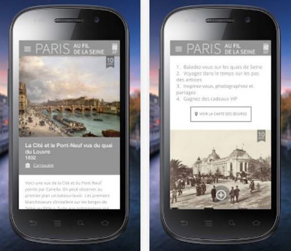 """L'appli mobile """"Paris au fil de la Seine"""" pour découvrir Paris autrement.  © DR"""