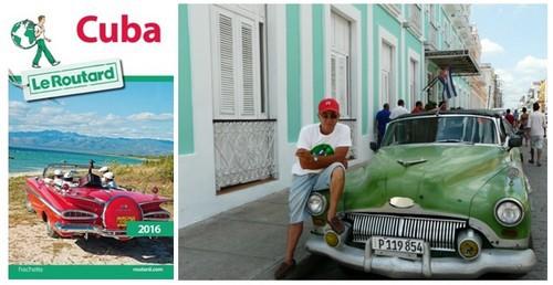 1/ Couverture Guide du Routard 2016 Cuba © DR ; 2/Dans les rues de Camarguey  © Catherine Gary