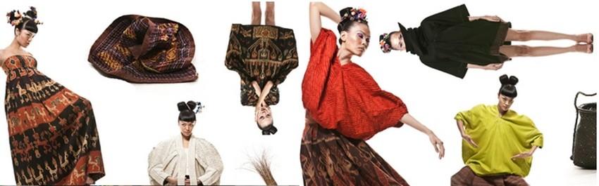 Lors de ce festival,  exposition de Batik et de tissages indonésiens présentés par Oscar Lawalata, le styliste indonésien dont tout le monde parle, d'Harper's Bazaar à CNN (Crédit photo DR)